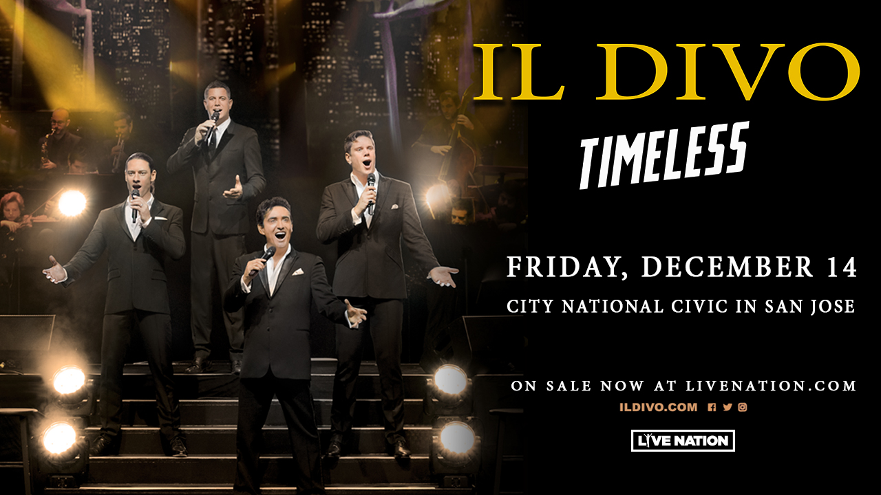 IL DIVO celebrates their 15th anniversary with a San Jose Performance on Friday, December 14.