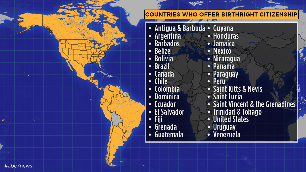 Which countries have birthright citizenship?   abc13.com on