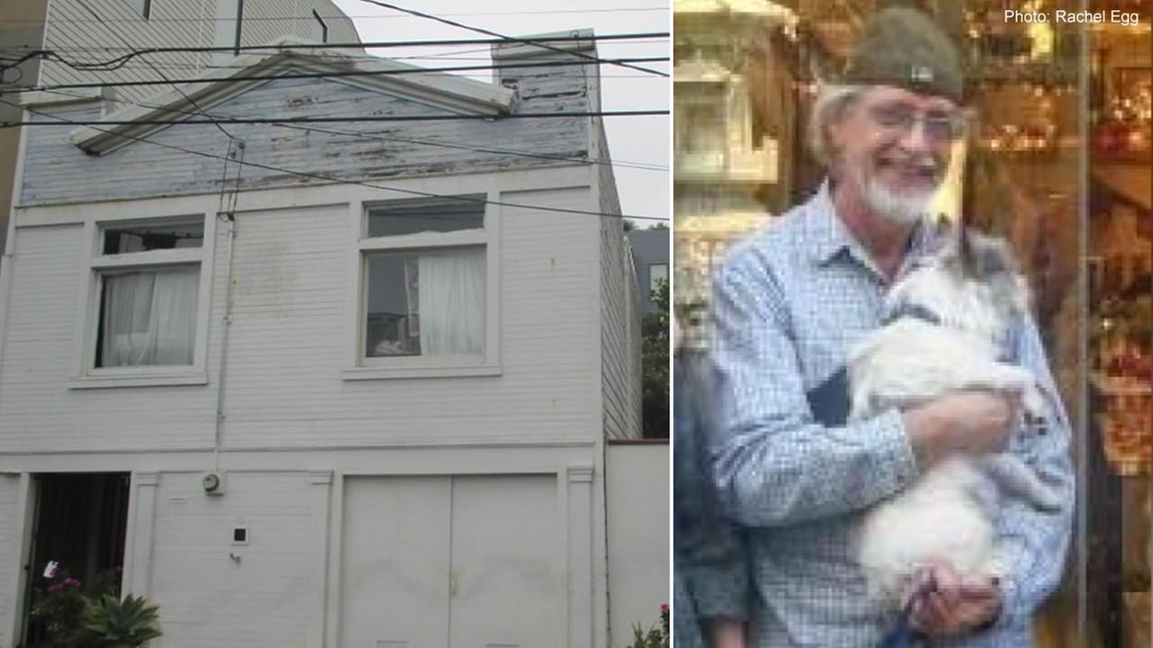 Investigators are trying to determine if the remains found inside a San Francisco home on Friday, Aug. 17, 2018 belong to Brian Egg, who was reported missing earlier in the year.