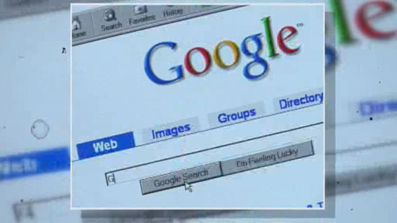 This undated image shows Googles search window.