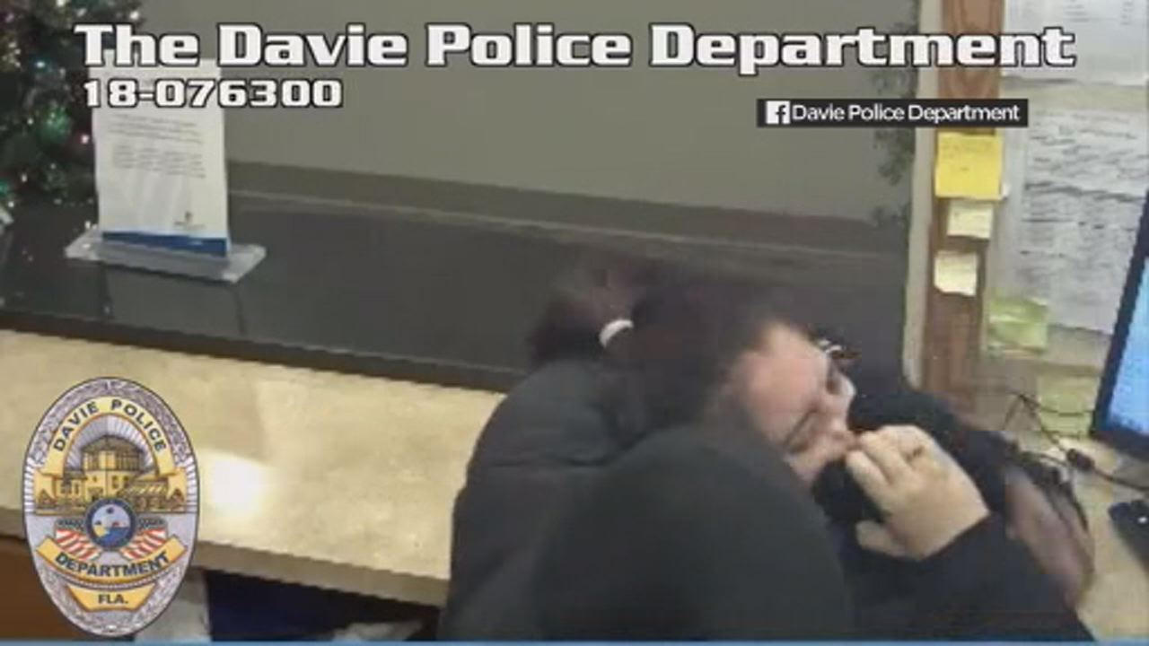 This image shows a hoodie-clad man attacking a Florida hotel clerk on  Dec. 22 at the Woodspring Suites in Davie, according to Davie Police Department.