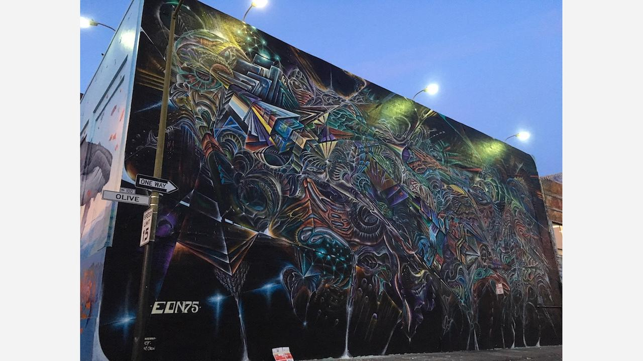 EON75 Unveils New Mural At Mitchell Brothers O'Farrell Theater