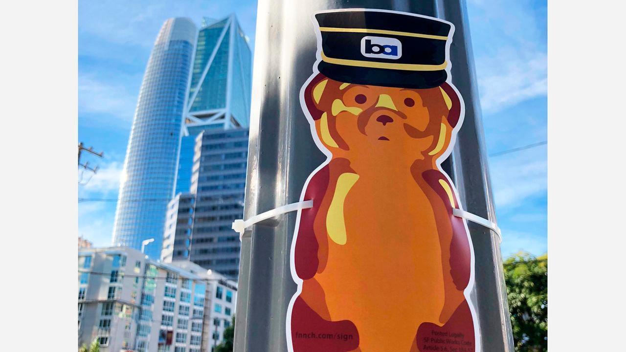 Street Artist 'Sign-Bombs' Downtown Neighborhoods With 450 'Honey Bears'