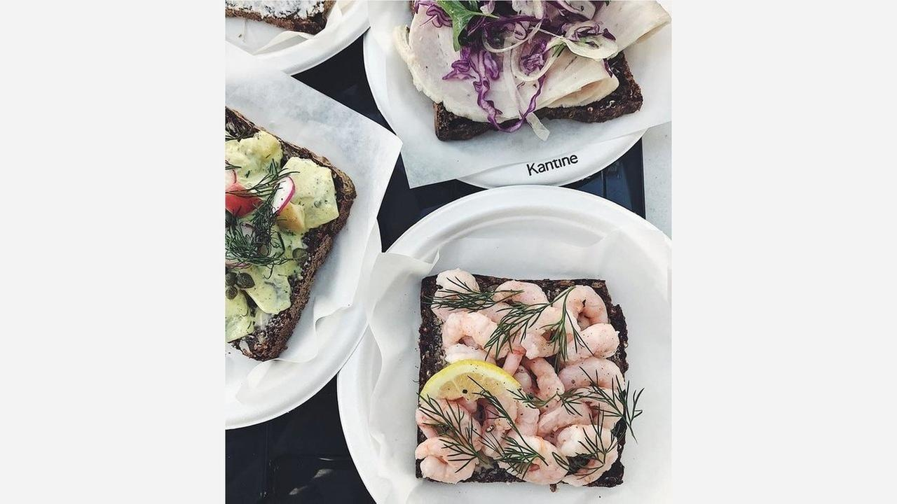 Smørrebrød sandwiches at Kantine. | Photo: Kantine SF/Facebook