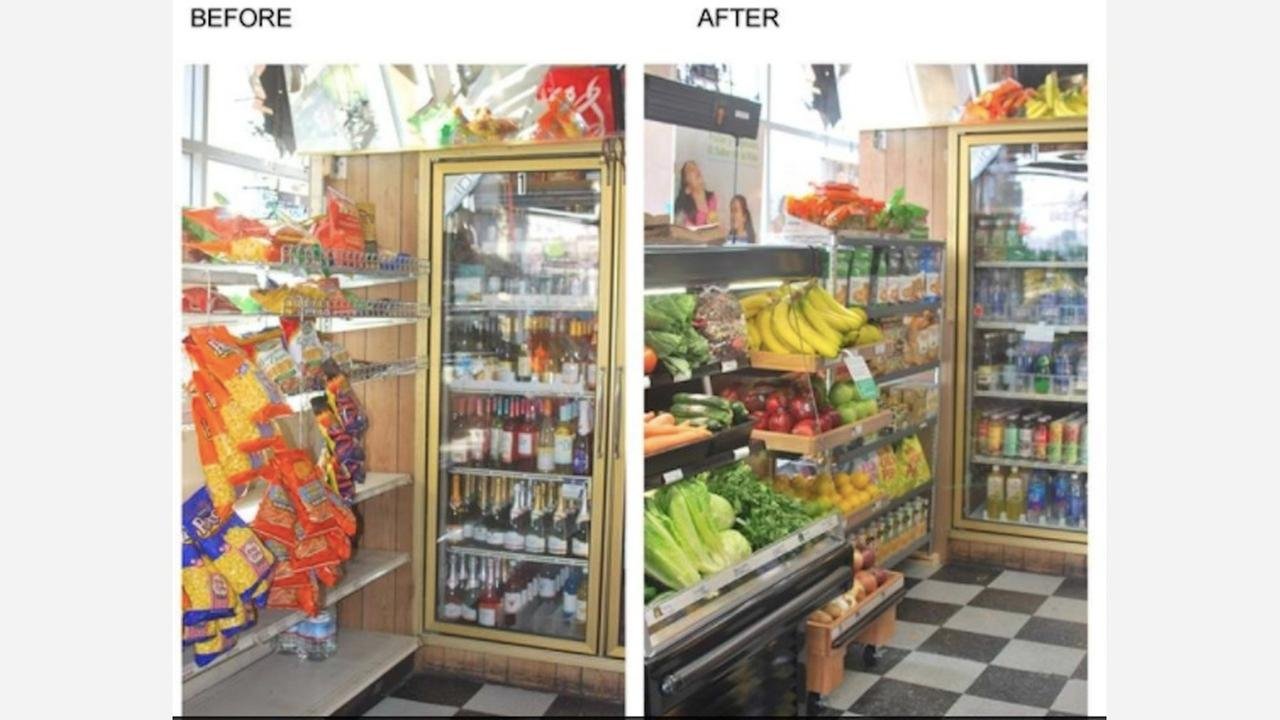 Before and after images of Daldas Market. | Photo: Tenderloin Healthy Corner Store Coalition