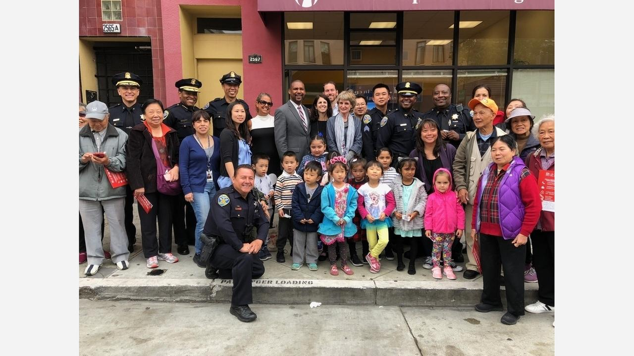 Police and community members at todays grand opening. | Photo: Natalie Gee