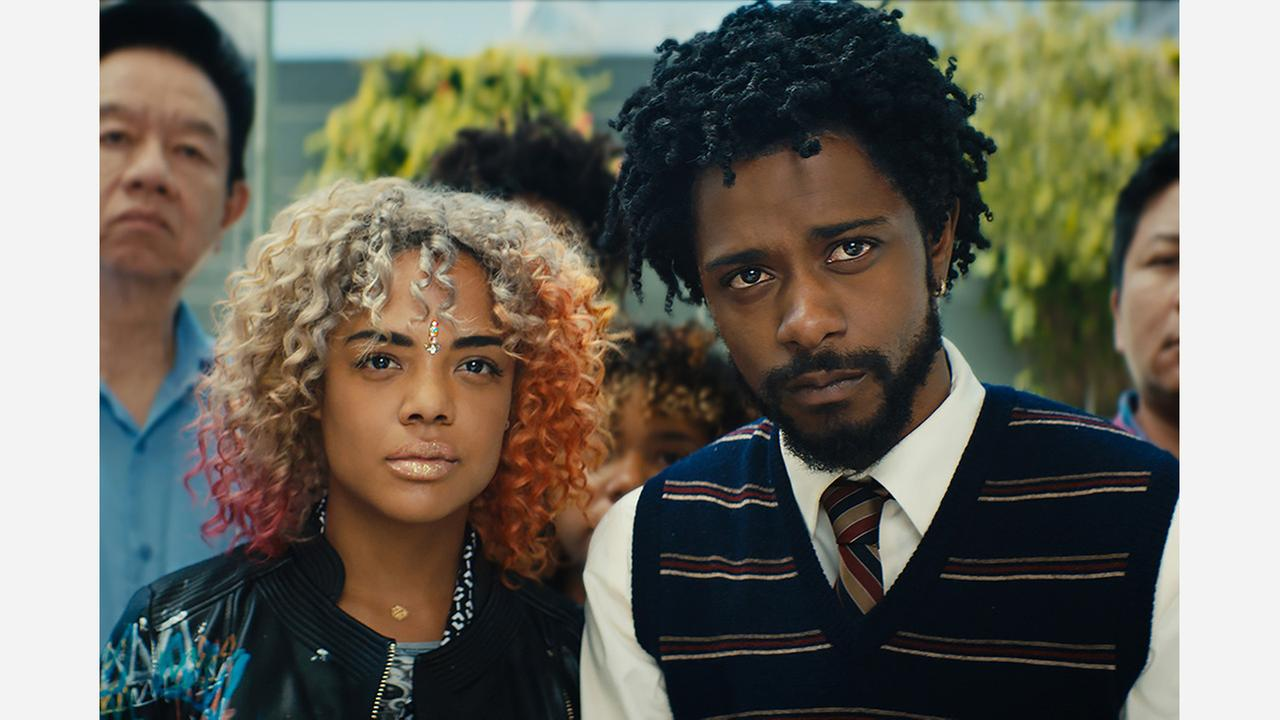 Tessa Thompson and Lakeith Stanfield in Sorry to Bother You. | Courtesy Annapurna Pictures