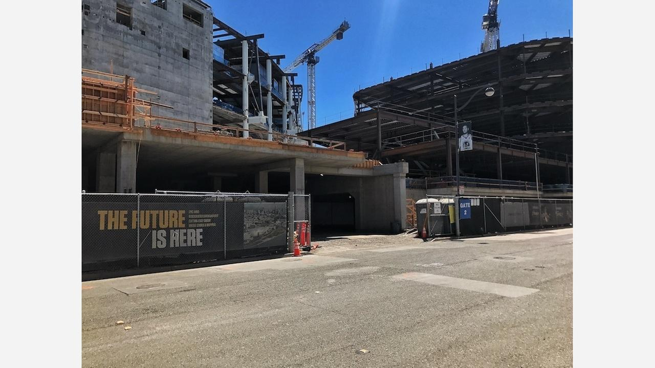 Chase Center is now half-completed. | Photos: Jennifer Shields/Hoodline