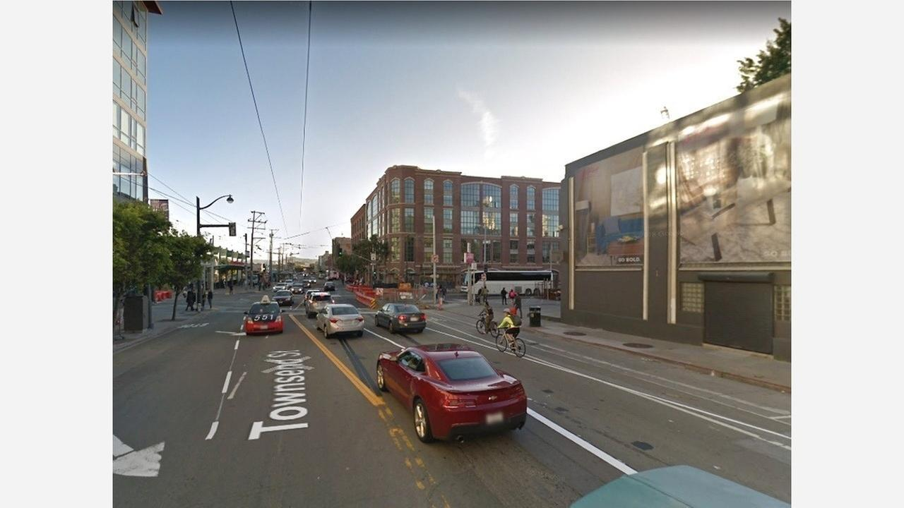 Townsend Street near Caltrain. | Photo: Google