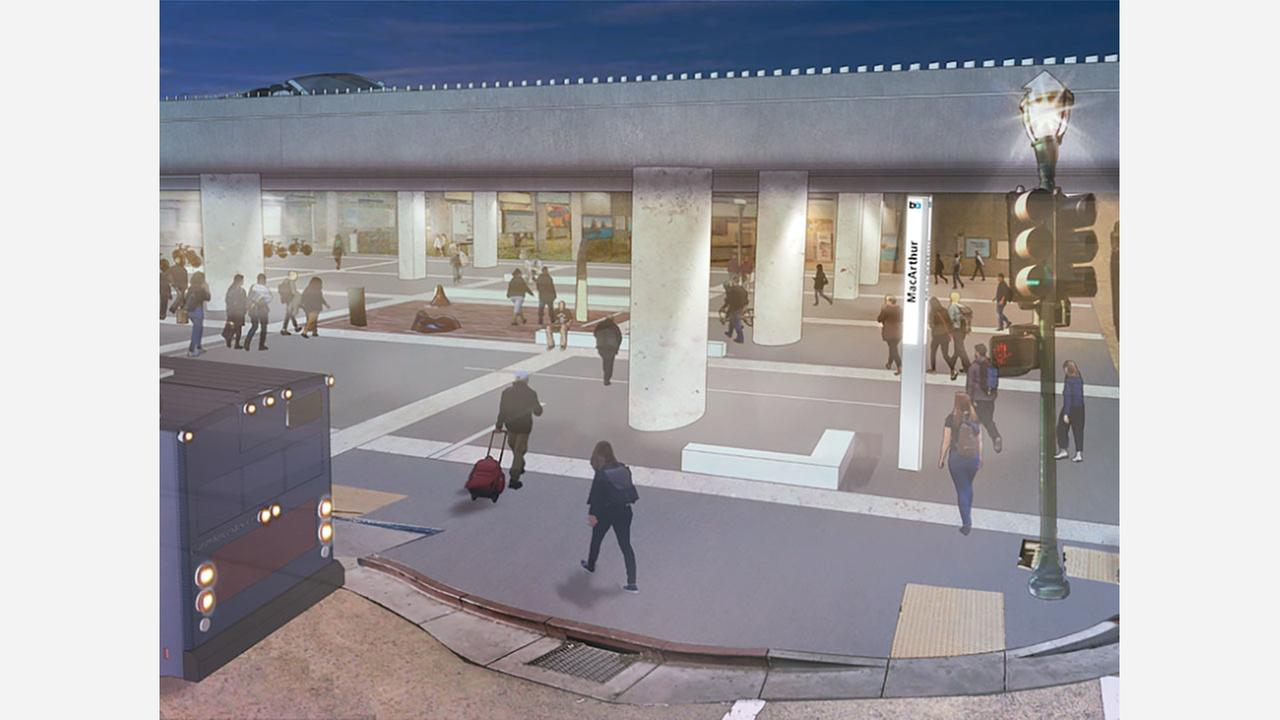 A rendering of the plaza post-renovation. | Photo: BART