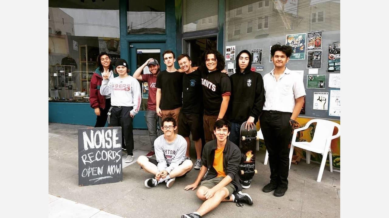 Members of The Axidents, Positive Citizen and Marigold 916 in front of Noise. | Photo: Noise/Instagram