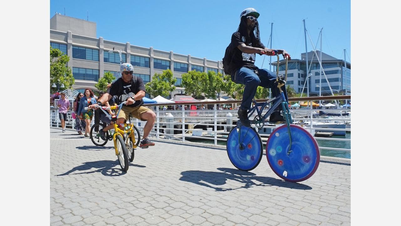 Pedalfest rolls into Jack London Square. | Photo: Pedalfest