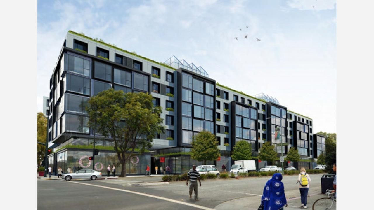 A rendering of the planned development at 5110 Telegraph Avenue. | Rendering: RAD Urban