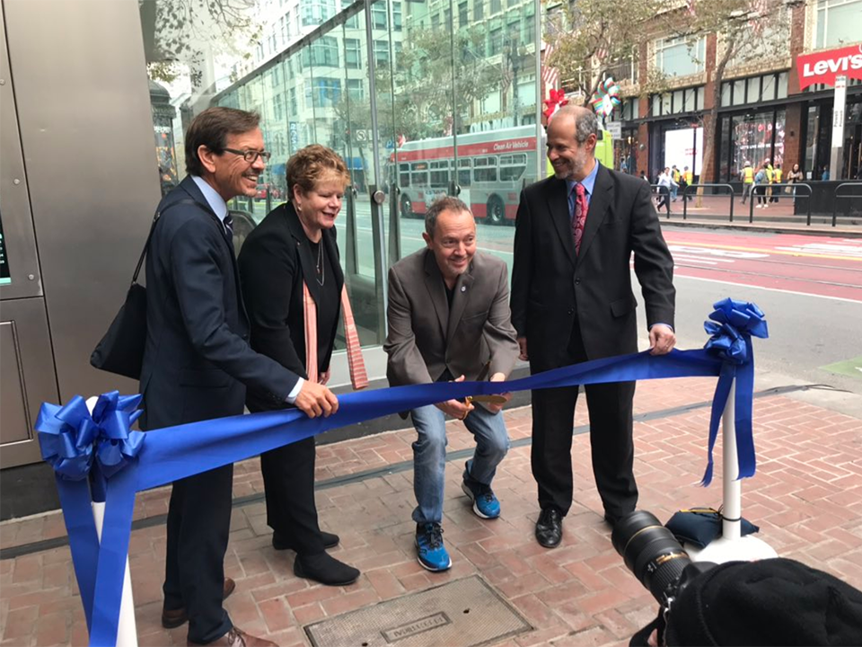 Transit officials at Tuesdays ribbon-cutting ceremony. | Photo: BART/Twitter