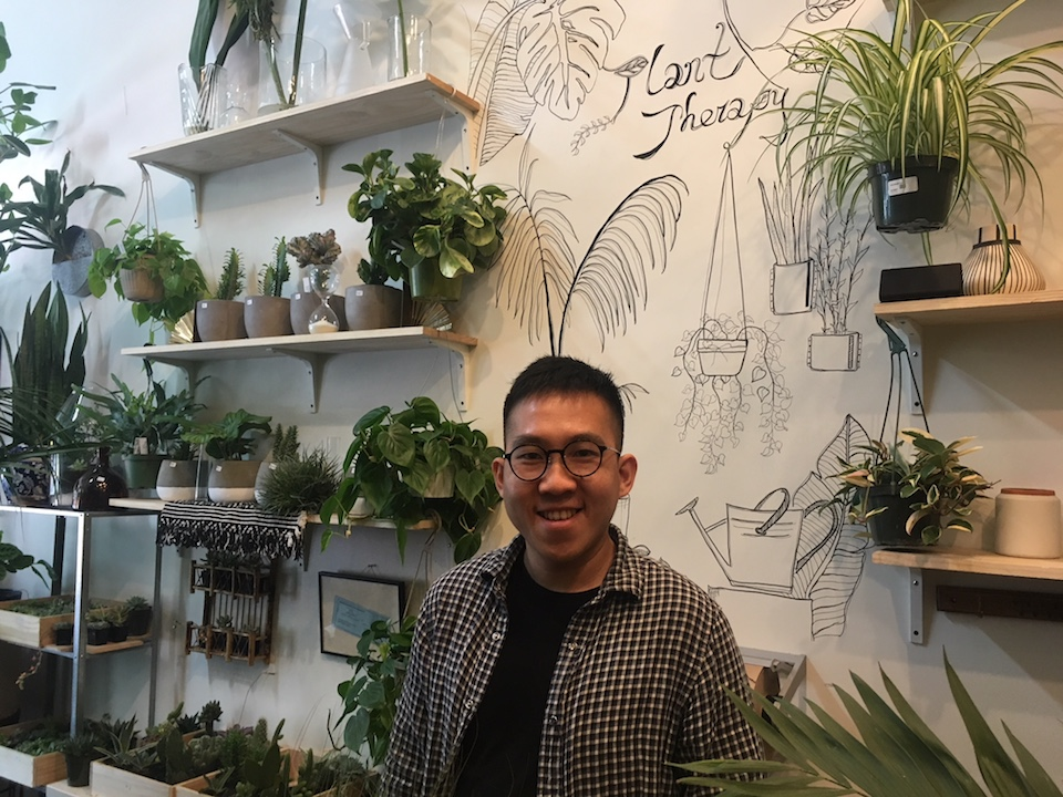 Chai Saechao at his new plant store on OFarrell at Hyde. | Photos: Carrie Sisto/Hoodline