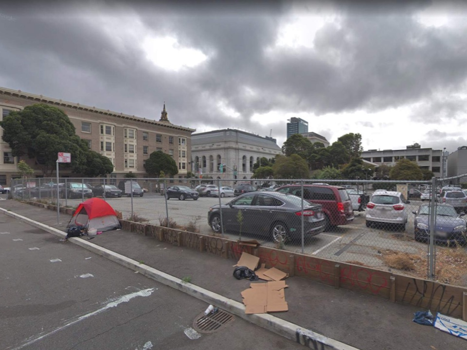 600 McAllister St. is currently a surface parking lot.   Images: SF Planning