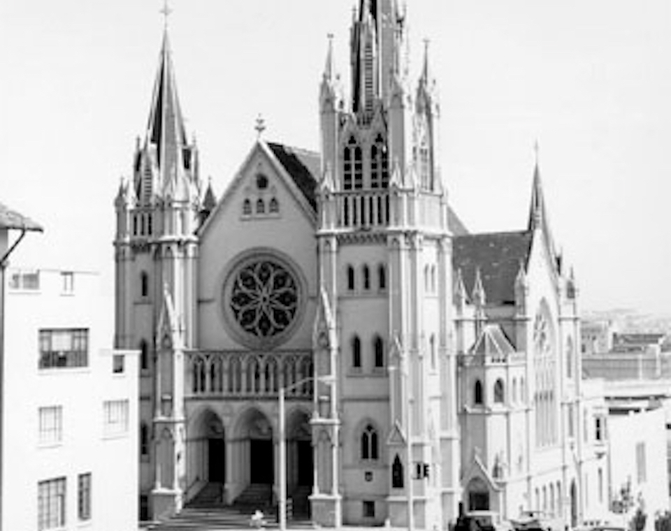 Saint Paulus Lutheran Church in 1964, three decades before it was destroyed. | Image: San Francisco History Center, San Francisco Public Library