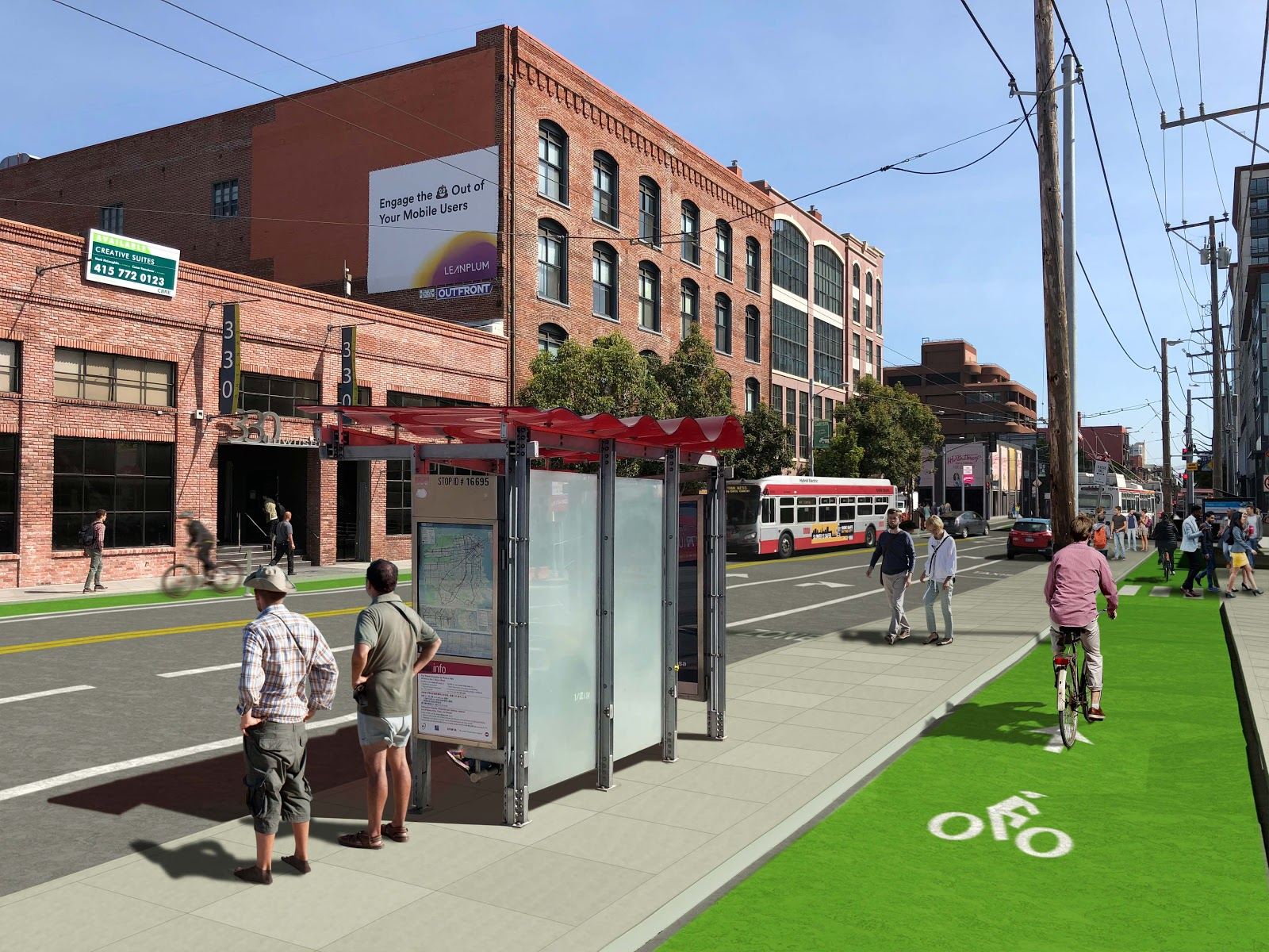 The proposed street design. | Images: SFMTA