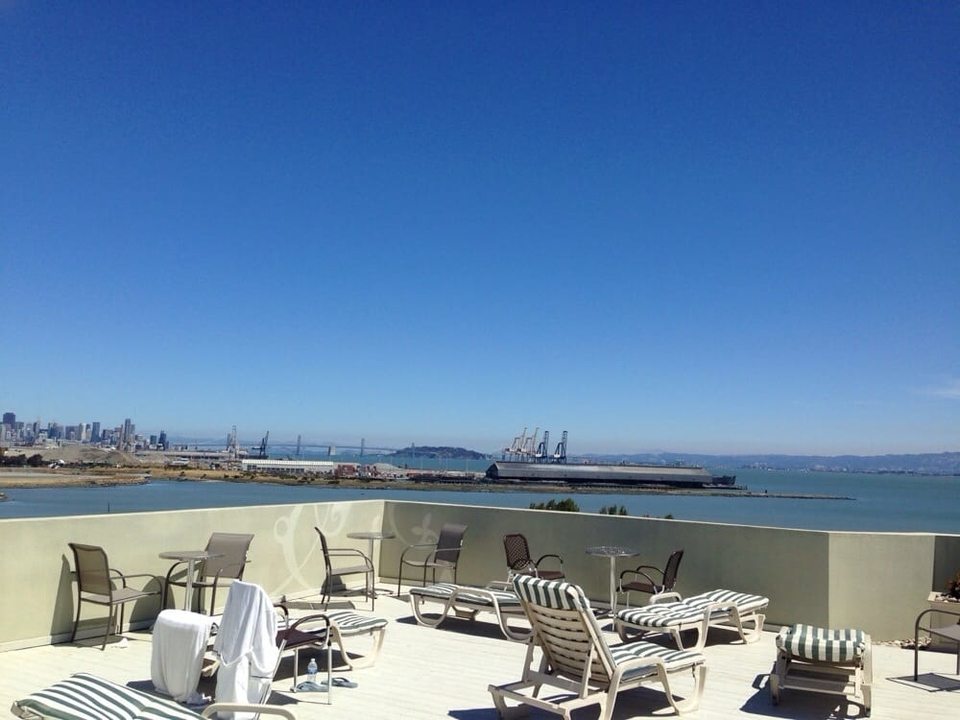 View from Archimedes Banyas rooftop deck. | Photo: Desiree P./Yelp