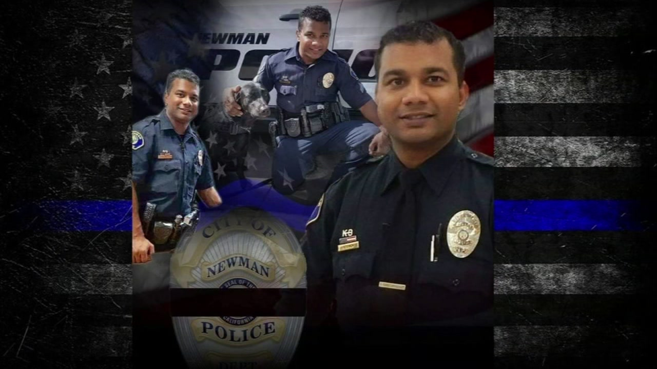 These undated images show Newman police officer Corporal Ronil Singh.