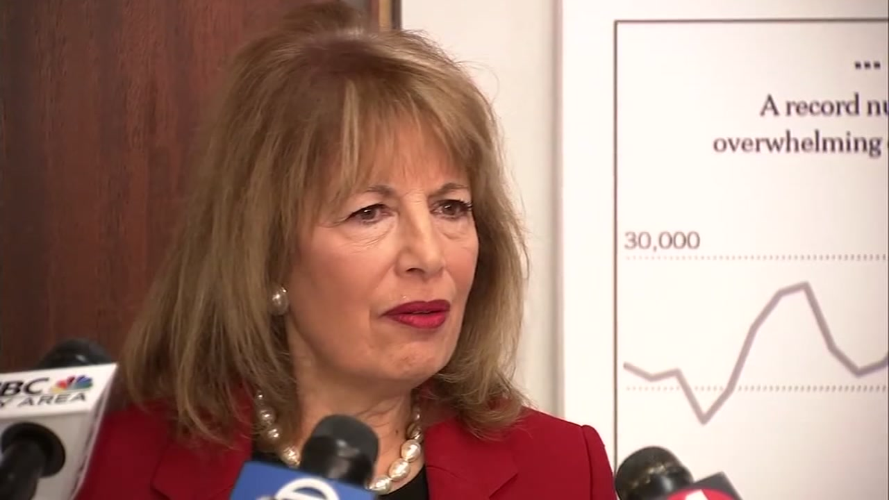 This image shows Rep. Jackie Speier in San Jose, Calif. on Friday, Jan. 18, 2019.