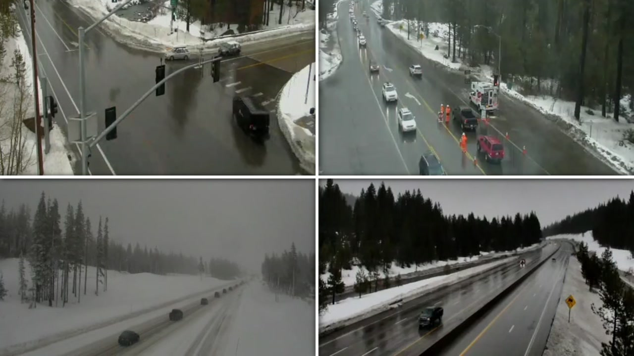 These images show road conditions in the Sierra on Sunday, Jan. 20, 2019.