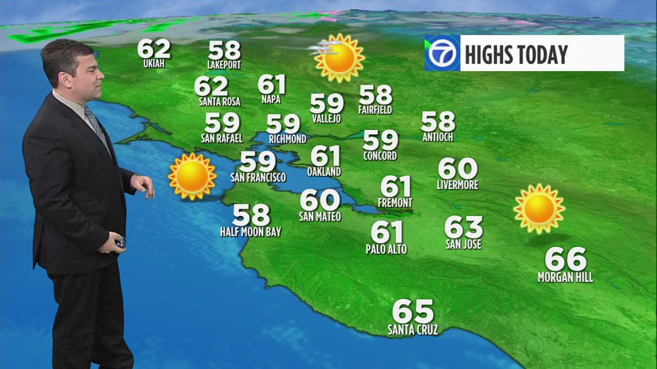 Meteorologist Mike Nicco has your ABC7 AccUWeather forecast for Wednesday morning.