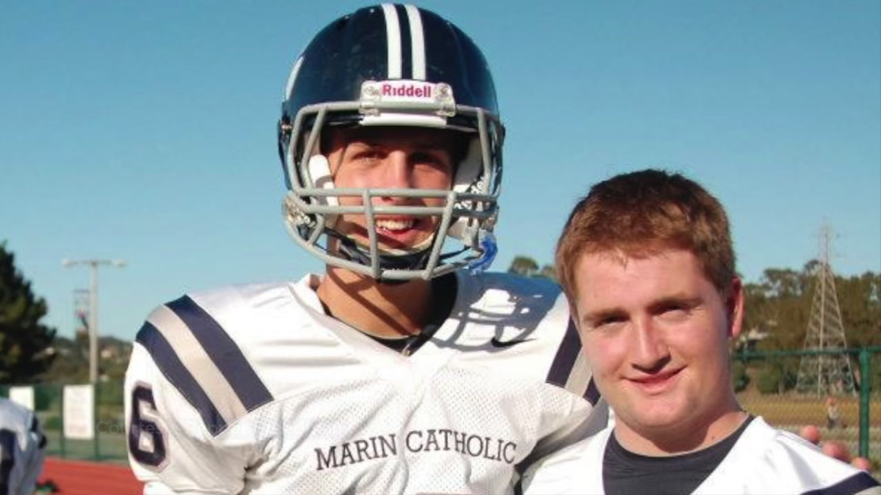 Jared Goff (left) is seen during his high school football days in Marin County in this undated image.