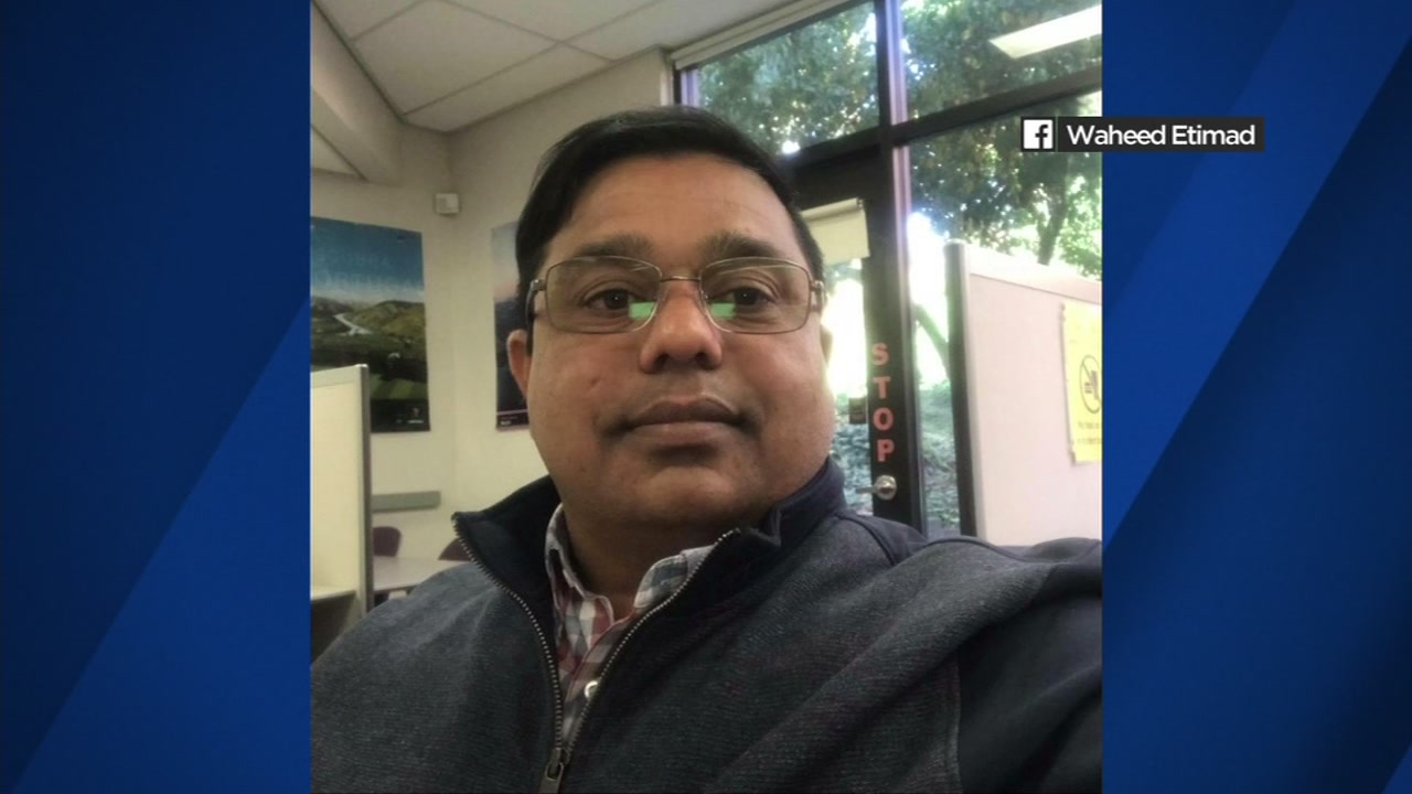 This undated image shows Waheed Etimad, who was killed in a crash in San Francisco, Calif. on Sunday, Feb. 03, 2019.