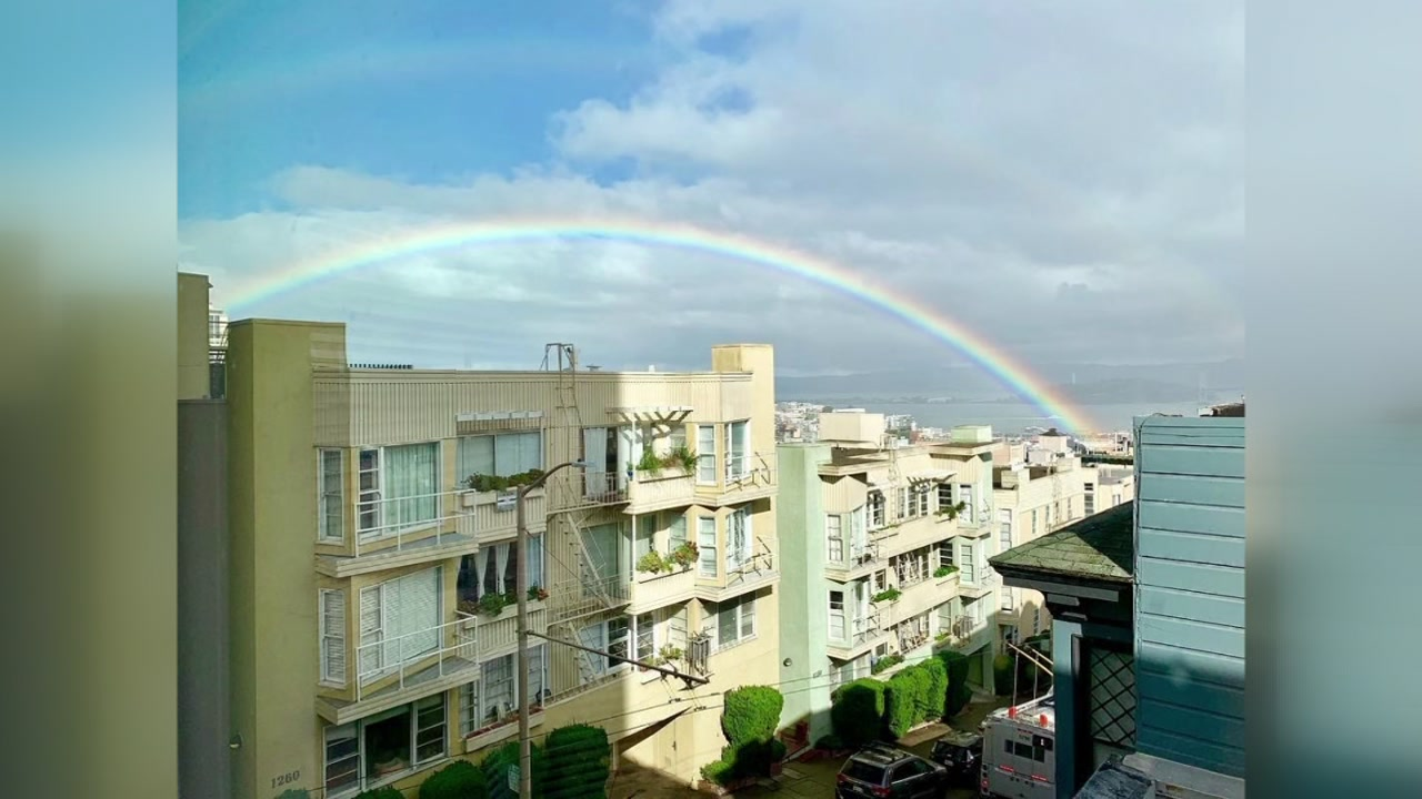 This image shows a rainbow over Russian Hill in San Francisco, Calif. on Sunday, Feb. 03, 2019.