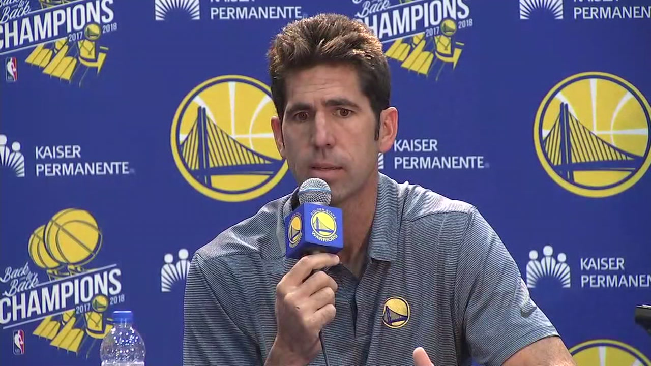Warriors General Manager Bob Myers is talking about the teams upcoming 2018-2019 season at Media Day.