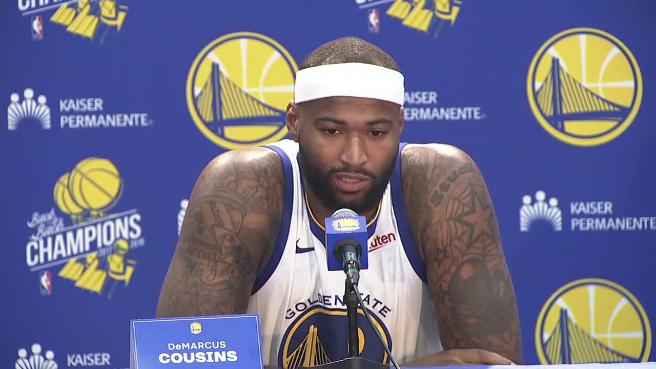 DeMarcus Cousins talks about his first season playing with the Warriors during Media Day.