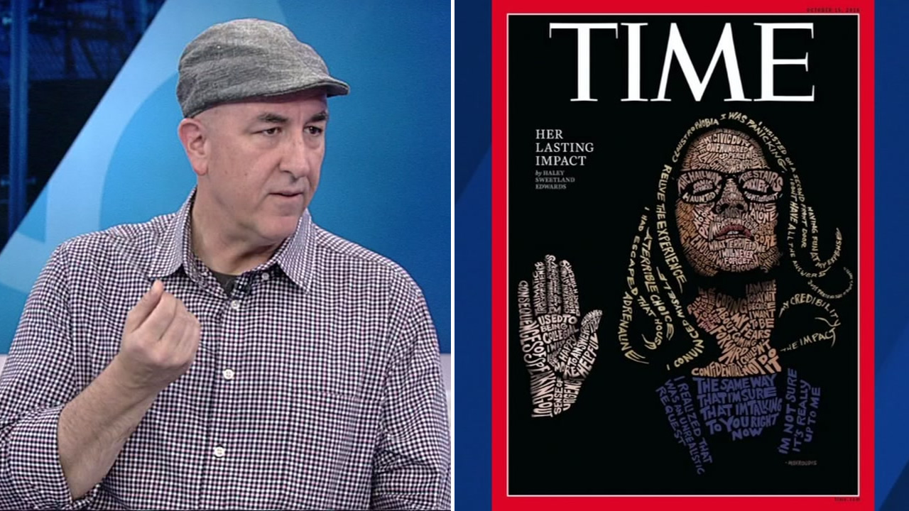 Bay Area artist John Mavroudis created the portrait of Christine Blasey Ford thats on the cover of Time magazine this week.