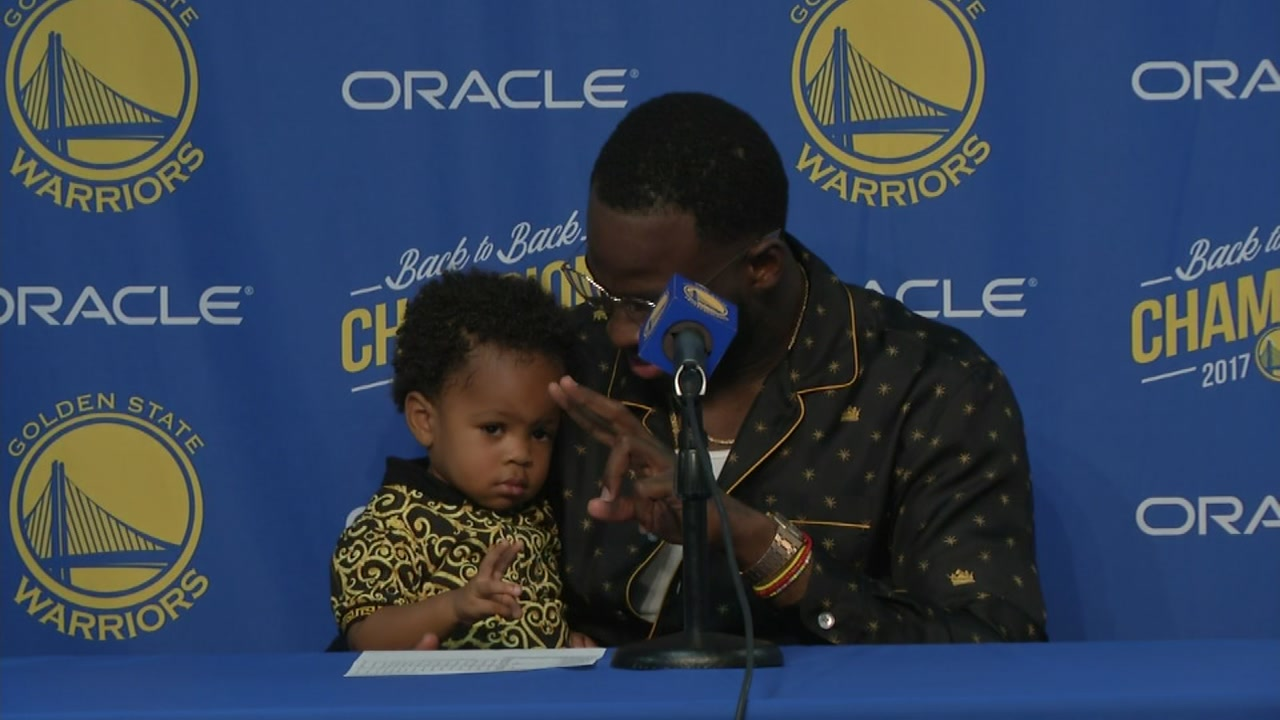 Riley Curry has some competition for the cutest Warriors kid.