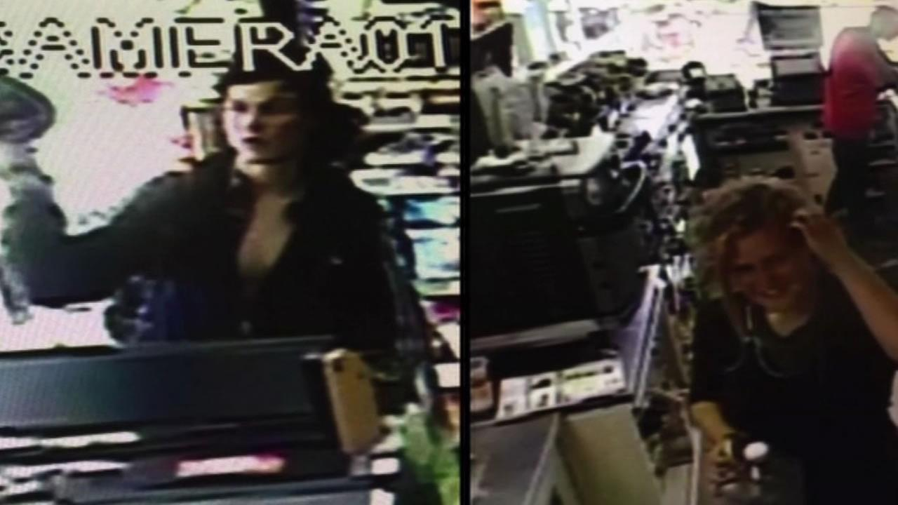 two of the three persons of interest caught on video