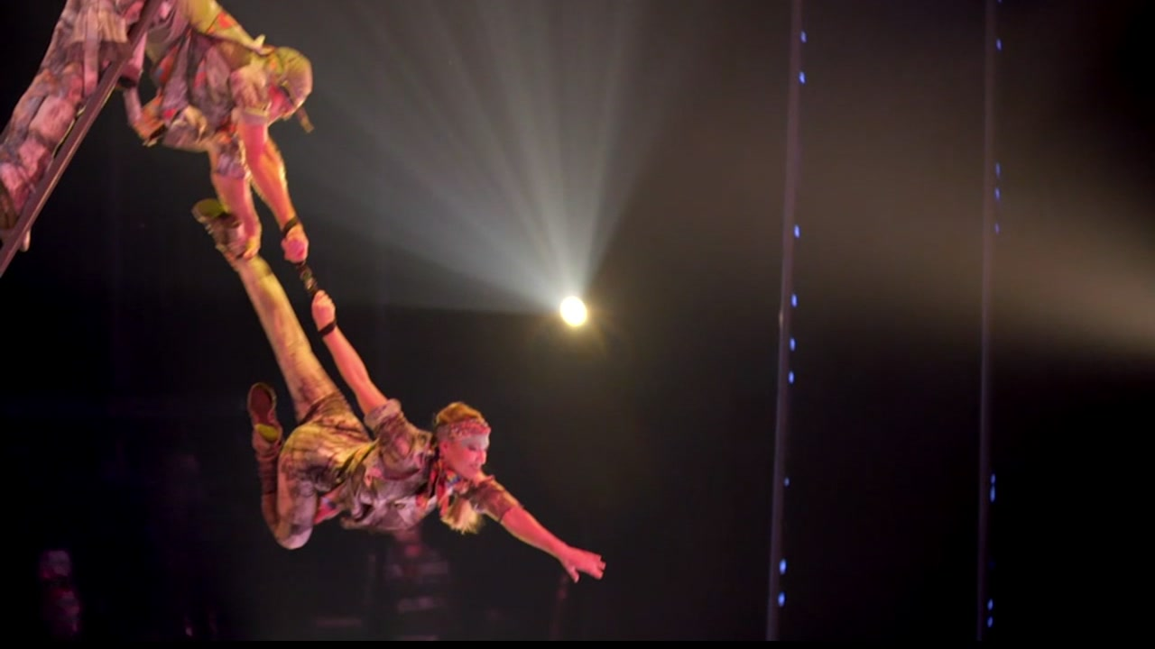 Join ABC7 for a behind-the-scenes look at Cirque du Soleils big top show, VOLTA!