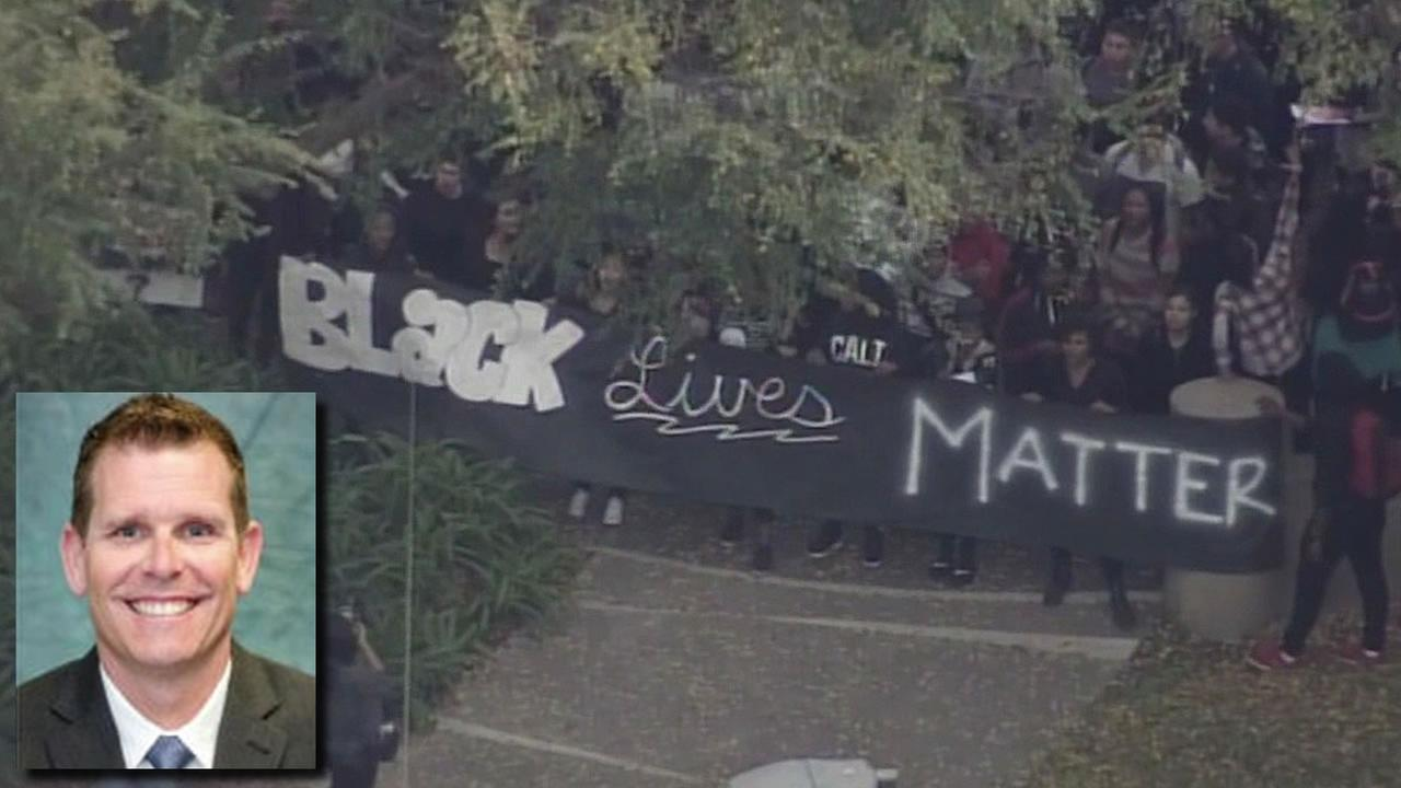 Officer Phillip White and Black Lives Matter activists