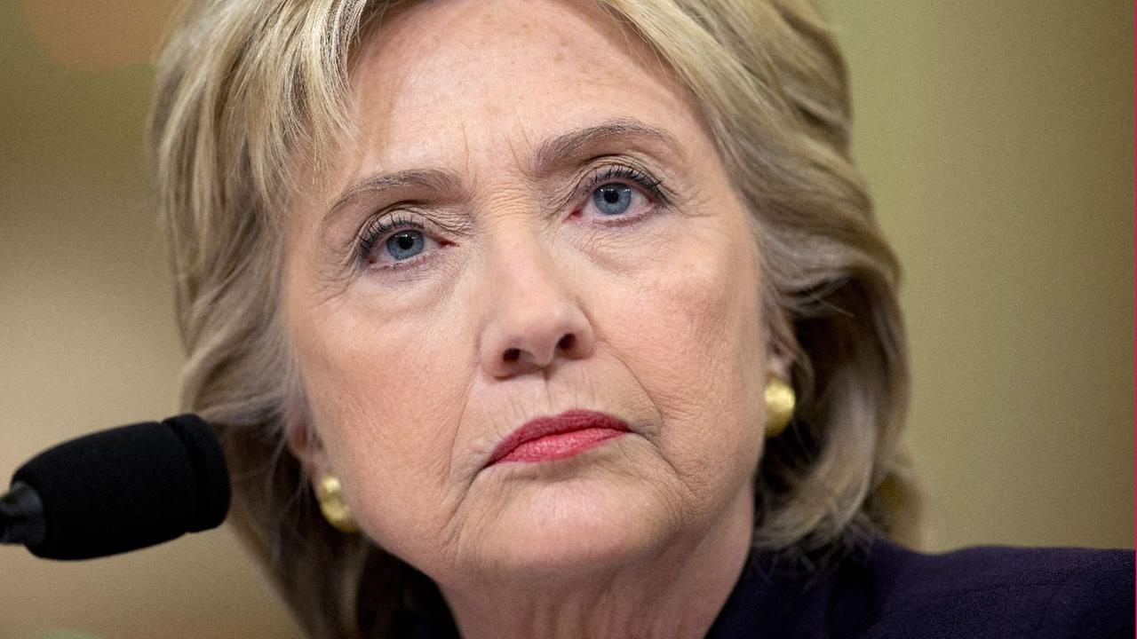 Former Secretary of State Hillary Rodham Clinton testifies on Capitol Hill in Washington, Thursday, Oct. 22, 2015. (AP Photo/Carolyn Kaster)