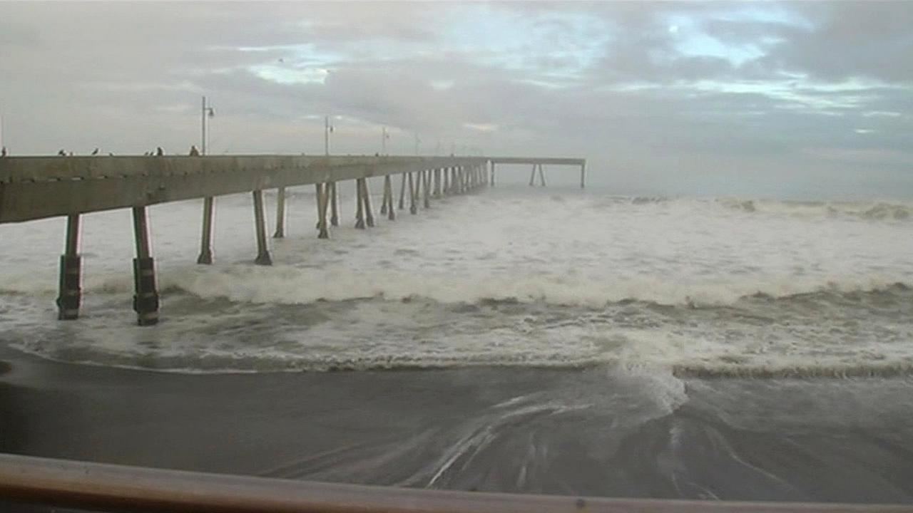A pier off of Beach Boulevard in Pacifica, Calif. is seen in this image.