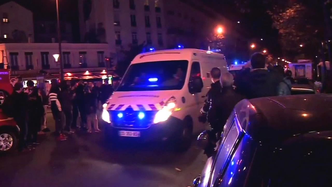 ambulance drives through streets of Paris