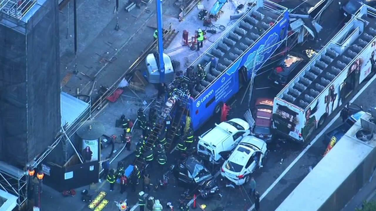 double-decker tour bus crash in San Francisco