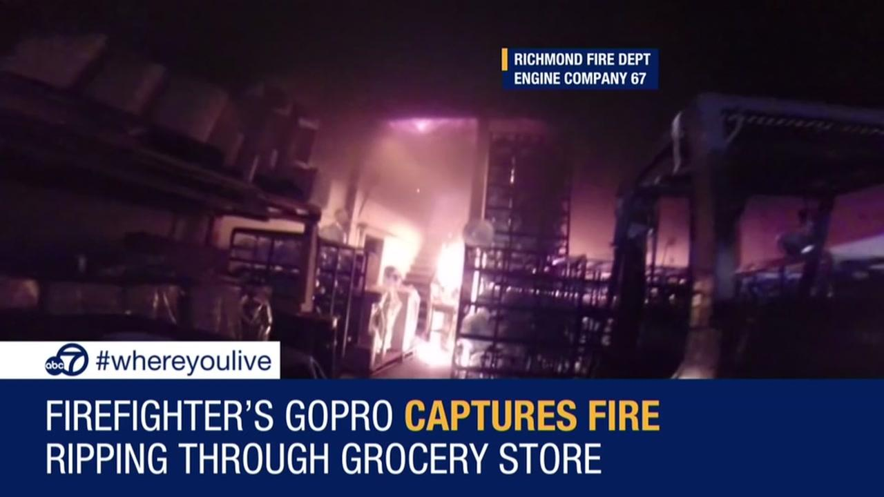 KNOW AND TELL: Firefighters GoPro captures fire ripping through store