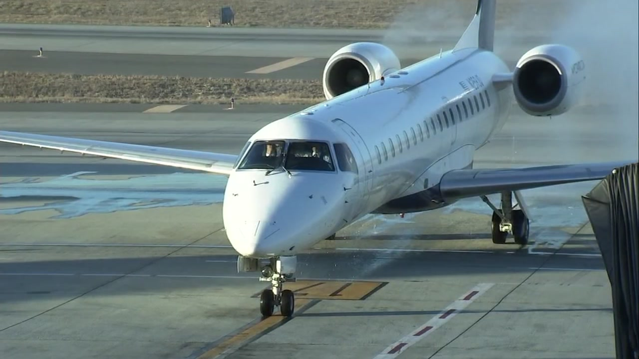 This photo shows a California Pacific Airlines plane on Friday, Nov. 2, 2018 at Mineta San Jose International Airport in San Jose, Calif.