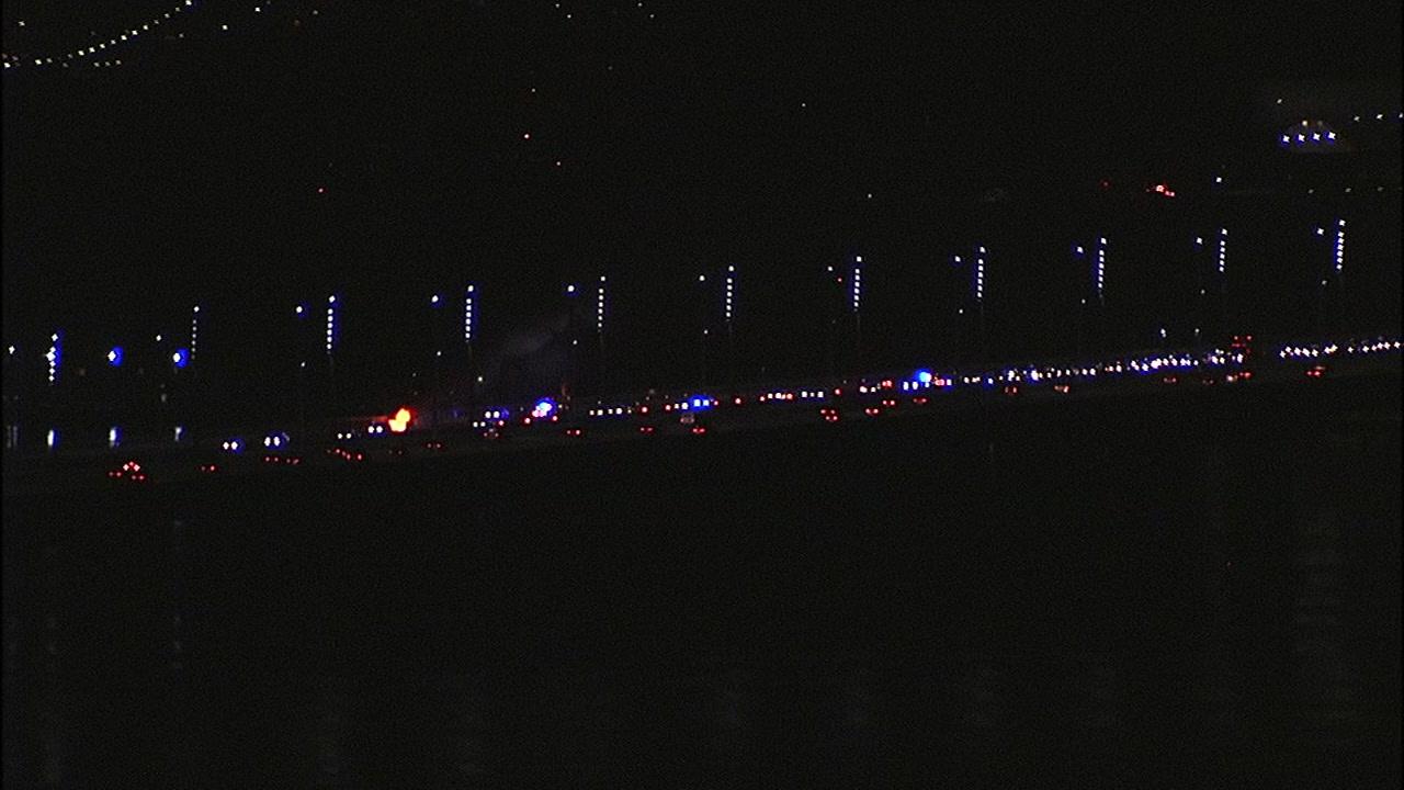 Car fire affects traffic on Bay Bridge