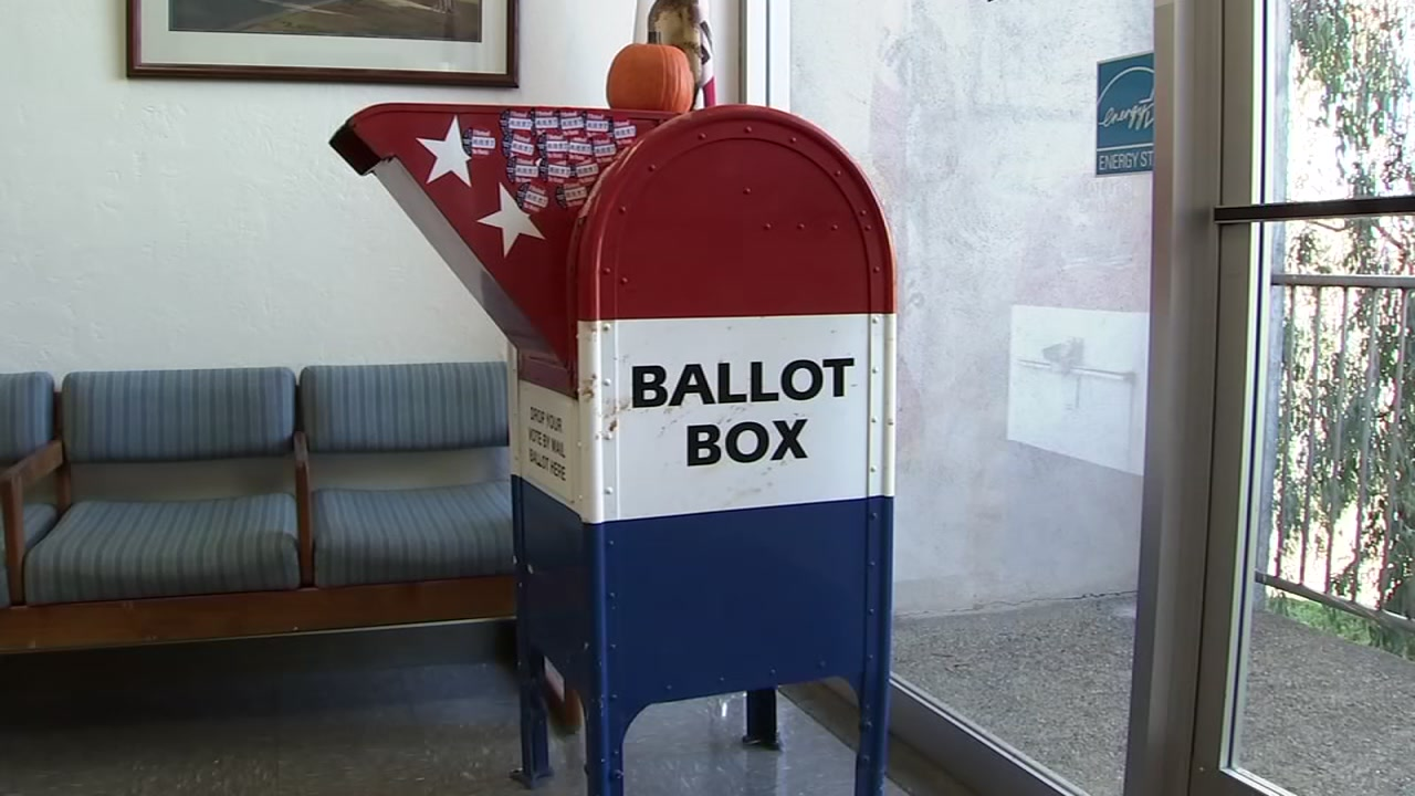 A ballot mail box is seen in this undated image.