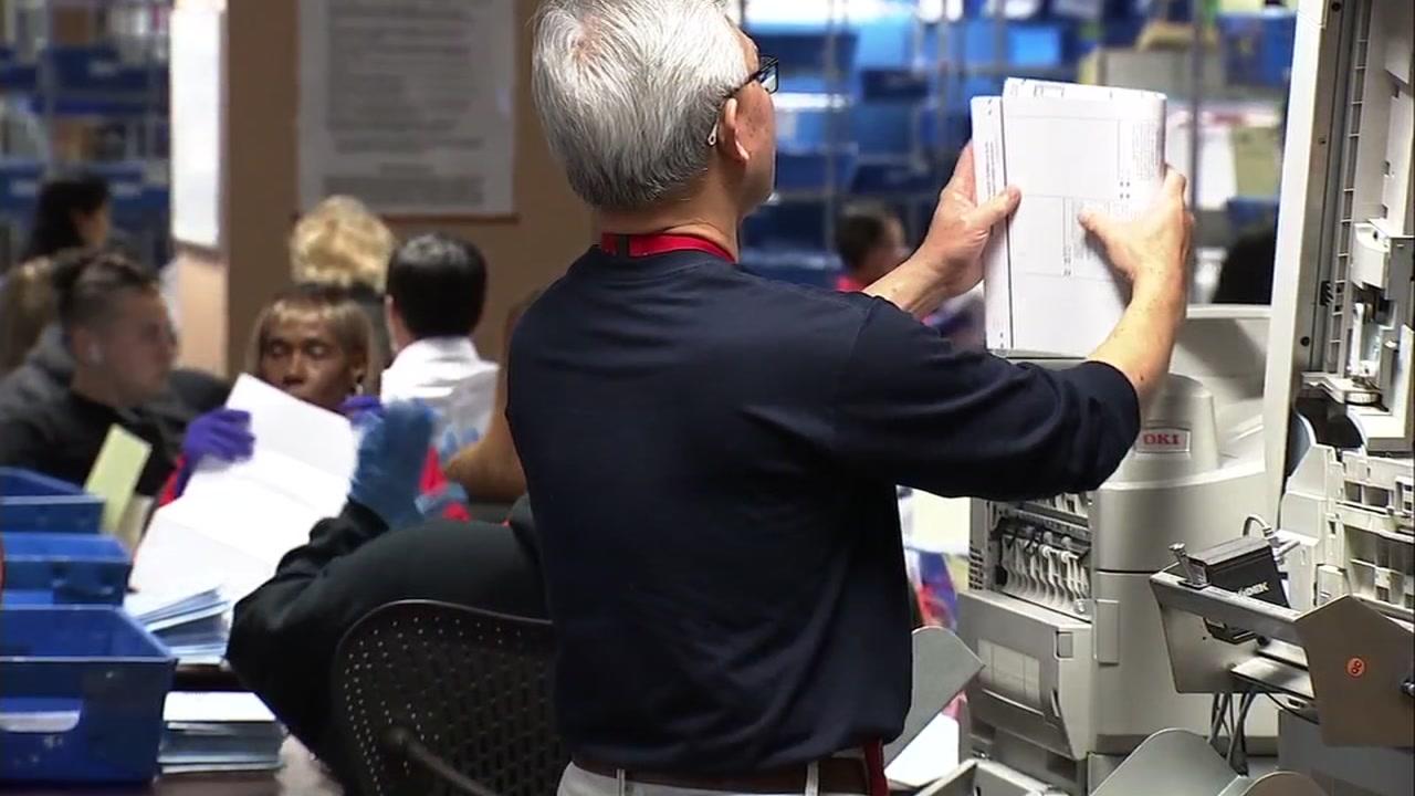 People voting in San Jose, Calif. on Tuesday, Nov. 06, 2018.