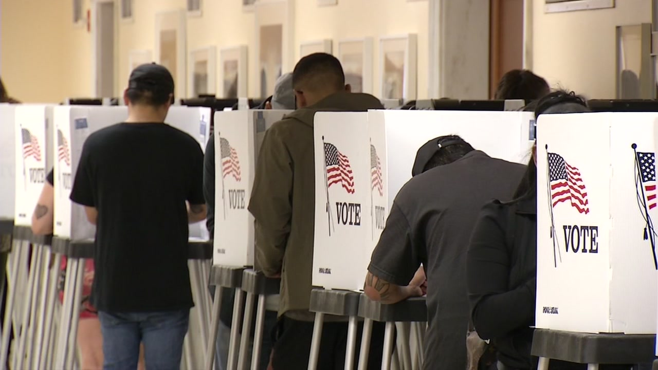 A polling place is seen in San Francisco on Tuesday, Nov. 6, 2018.