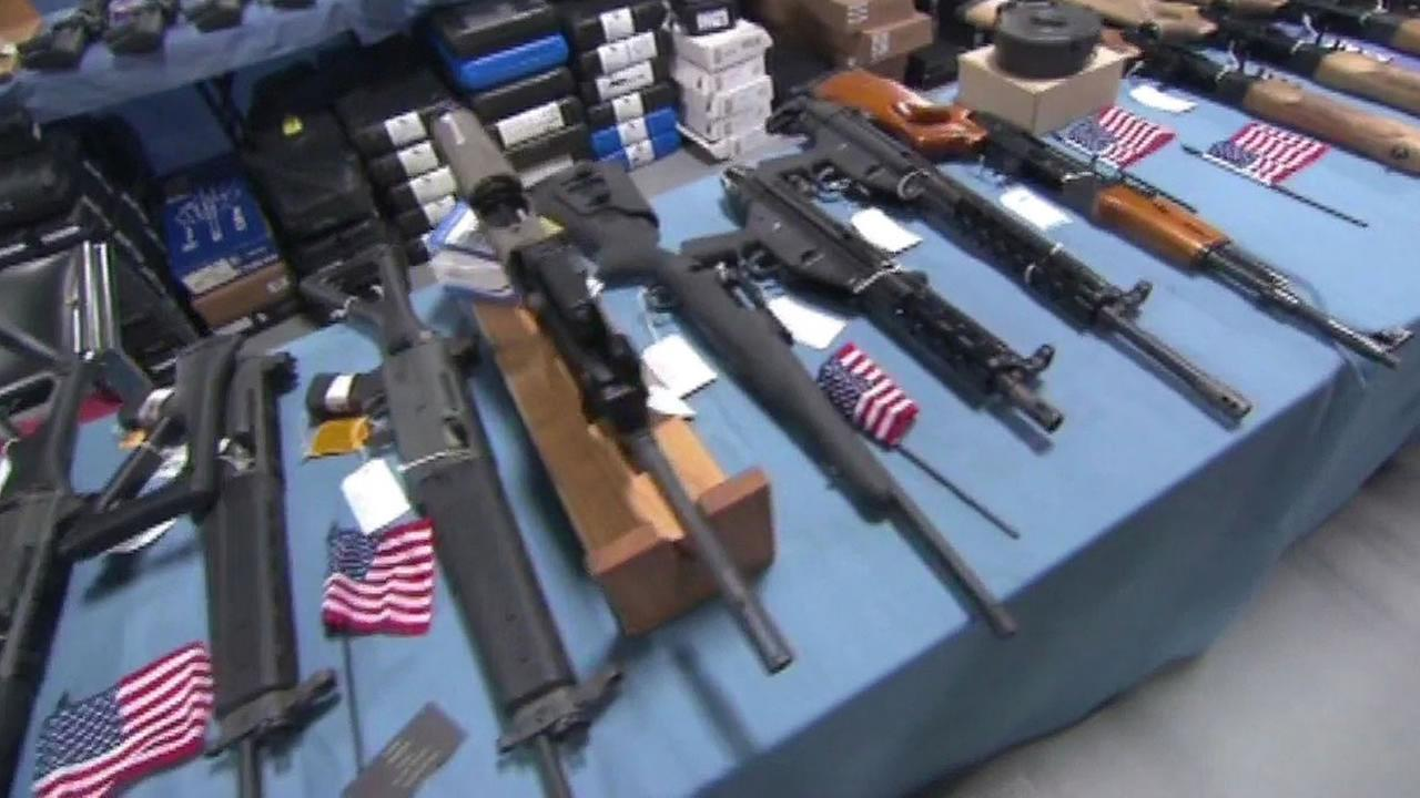 guns for sale with American flags