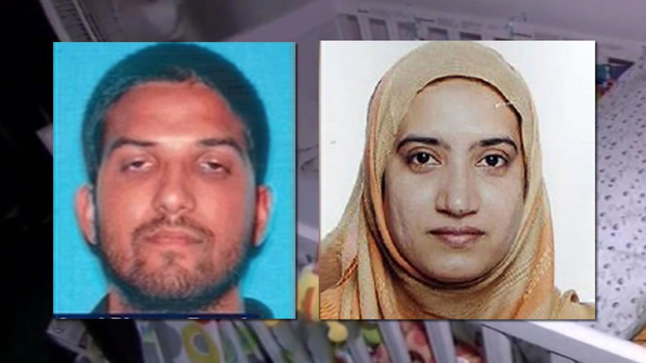 Reporters and neighbors were allowed inside the Redlands, Calif. of the home of Syed Farook and Tashfeen Malik, the couple accused of killing 14 in San Bernardino, Dec. 4, 2015.