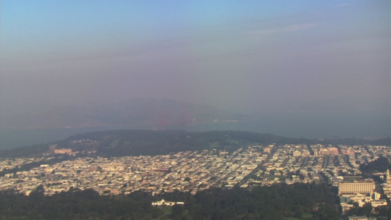 Smokey sky over San Francisco Bay Area on Sunday, November 12, 2018.